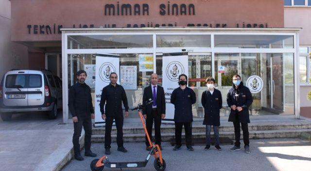 Bursa'da meslek lisesinde üretilen elektrikli scooter için siparişler gelmeye başladı