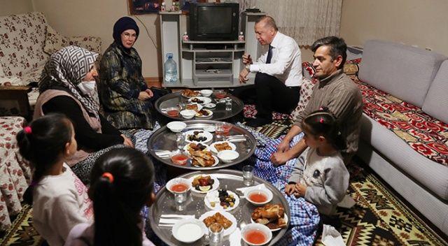 Cumhurbaşkanı Erdoğan, yer sofrasında iftar yaptı