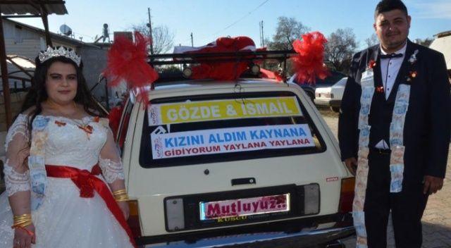 Dirftli evlilik teklifine gelen ceza, gelin arabasını satılığa çıkarttı