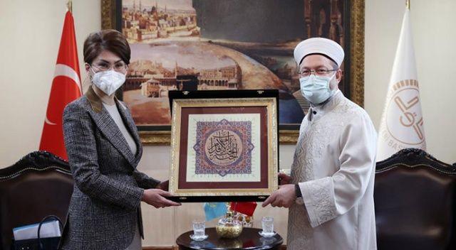 Diyanet İşleri Başkanı Erbaş, Kazakistanlı Bakan Balayeva'yı kabul etti