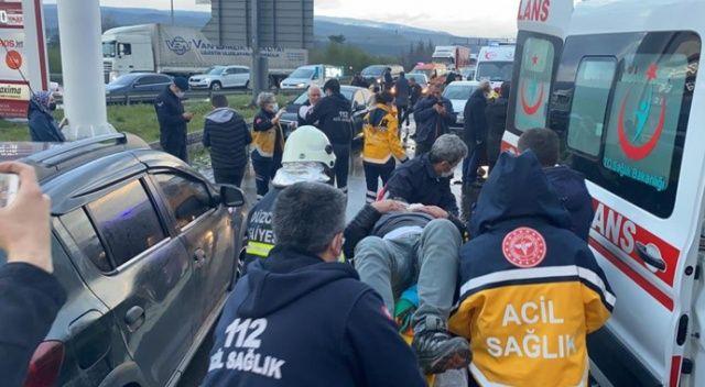 Düzce TEM'de 12 araç zincirleme kaza: 9 yaralı