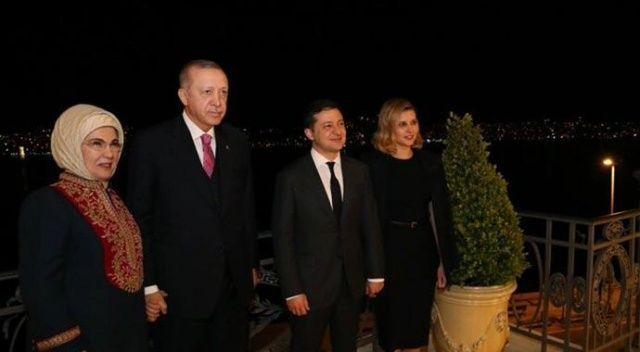 Erdoğan ailesi, Ukrayna Devlet Başkanı Zelenskiy ve eşiyle akşam yemeğinde bir araya geldi