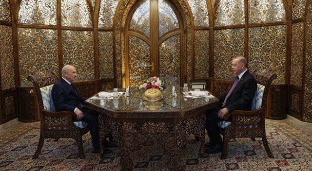 Erdoğan ile Bahçeli iftarda bir araya geldi