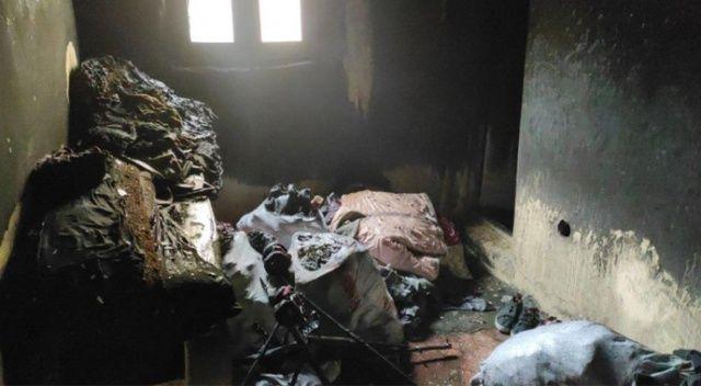 Evde mangal keyfi yangına neden oldu