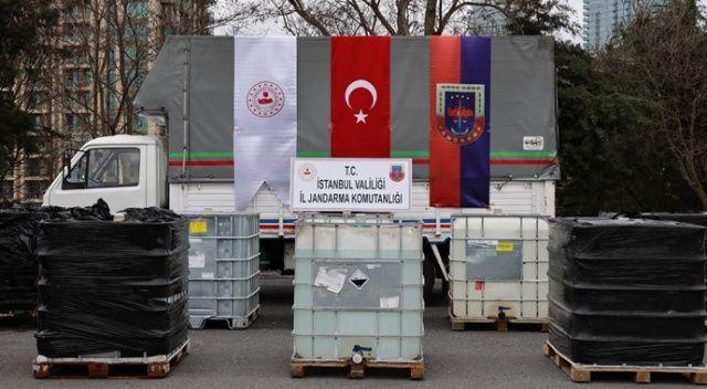 İstanbul'da uyuşturucu yapımında kullanılan 9 ton sıvı asetik anhidrit ele geçirildi