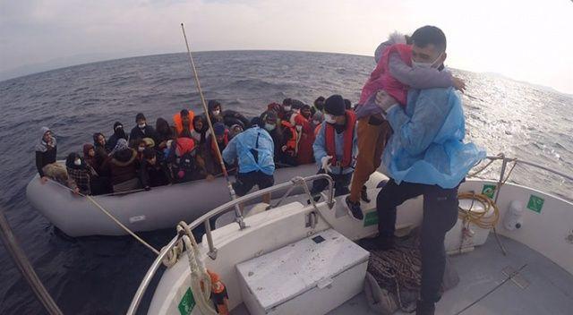 İşte Türk şefkati: Yunan'ın ölüme ittiği 110 göçmeni Sahil Güvenlik kurtardı