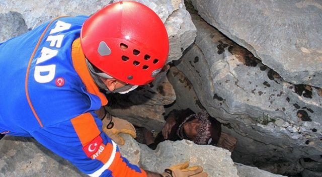 Kayalıkların arasında bulunan Hanım Nine'den acı haber geldi