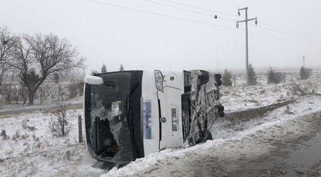 Konya'da 2 tur otobüsü kaza yaptı: 1 ölü, 40'dan fazla yaralı