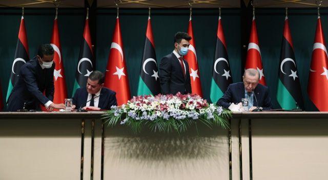 Libya ile imzalar atıldı, Erdoğan'dan ilk açıklama