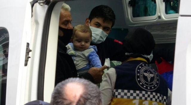 Mersin'de yangın çıkan evdeki 3 çocuk vatandaşlar tarafından kurtarıldı