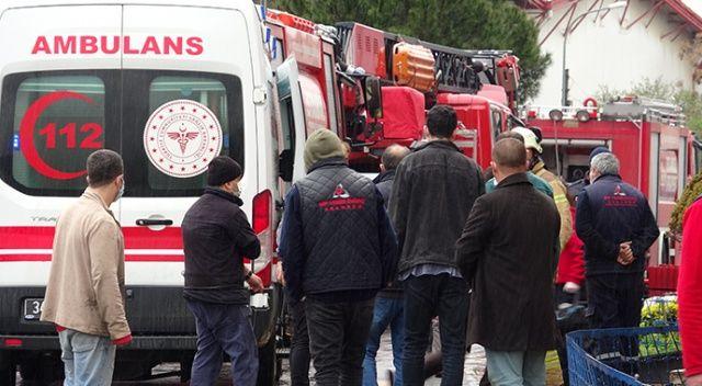 Pendik'te fabrikada tiner kazanı patladı, 1 işçinin vücudu yandı