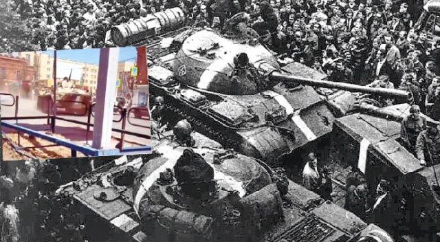 Rus tanklarına savaş boyası