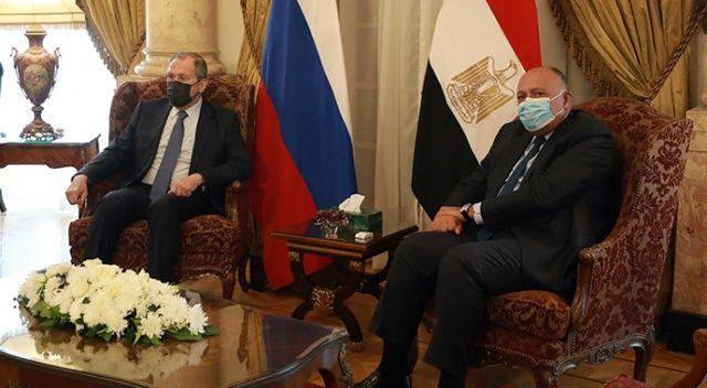 Rusya Dışişleri Bakanı Lavrov, Mısır Cumhurbaşkanı Es-Sisi ile görüştü