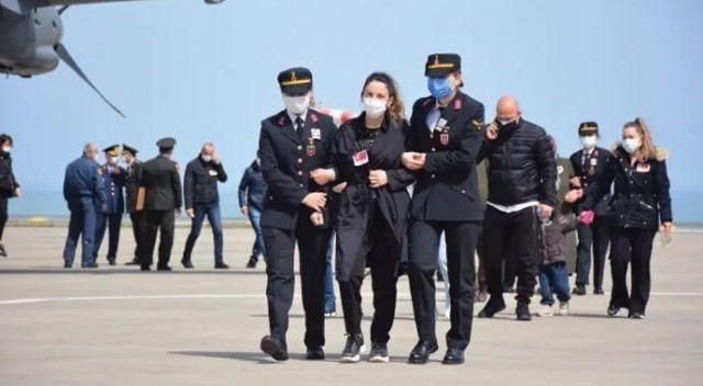 Şehit pilot Yüzbaşı Gençcelep'in naaşı Trabzon'a getirildi
