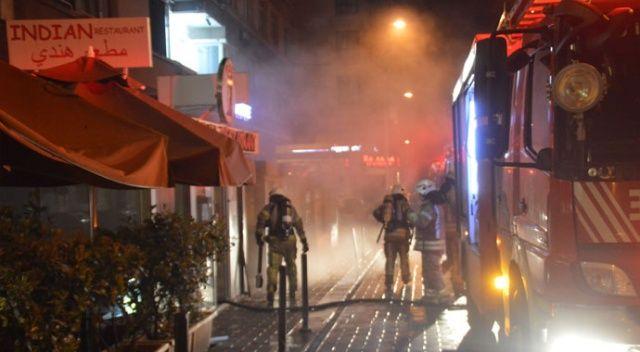 Taksim'de korkutan restoran yangını