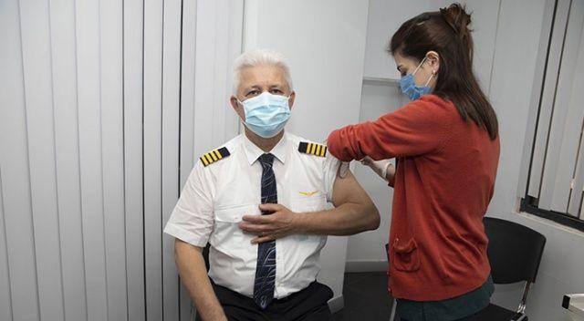 THY uçuş ekiplerine, Covid-19 aşısı uygulanmaya başlandı