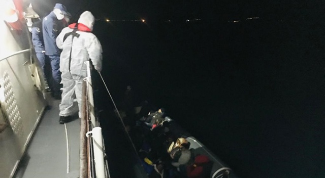Yunanların ölüme ittiği 76 göçmeni Sahil Güvenlik kurtardı