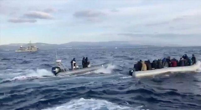 Yunanlıların Türk kara sularına ittiği 18 göçmen kurtarıldı