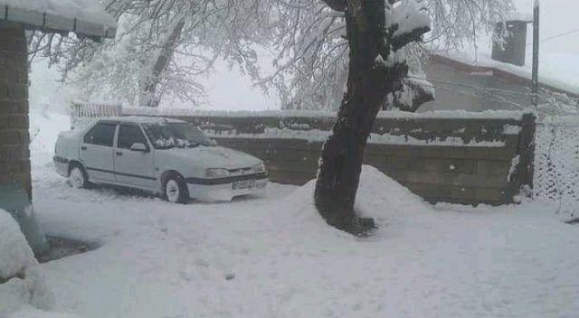 Zonguldak'ta nisan ayınca 30 santimetre kar yağdı