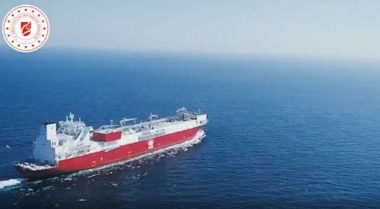 İlk doğalgaz depolama ve sıvılaştırma gemisi Türkiye'de