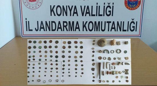 Konya'da 150 parça tarihi eser ele geçirildi