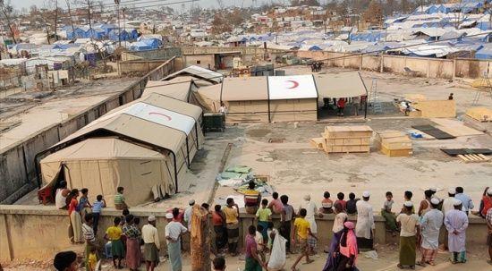 Türkiye, Bangladeş'te mülteci kampındaki yangında tahrip olan sahra hastanesini yeniden inşa ediyor