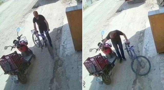3 saniyede hırsızlık! Kameralara yakalandı