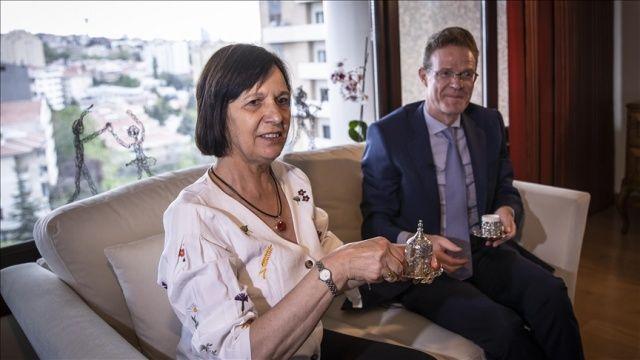 AB Büyükelçisi Meyer-Landrut, 9 Mayıs Avrupa Günü mesajını Türk kahvesi eşliğinde verdi