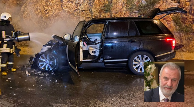 AK Partili eski vekil yanan araçtan zor kaçtı
