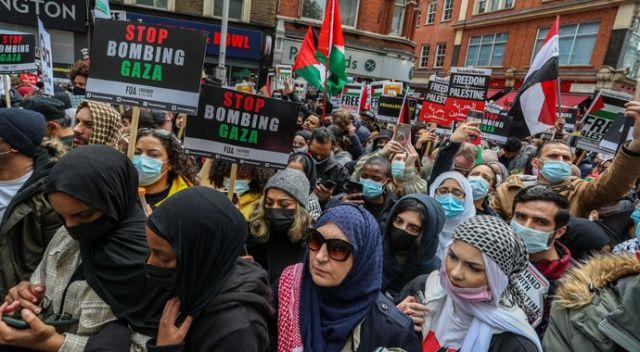 """Avrupa'da """"Filistin'e destek"""" gösterileri"""