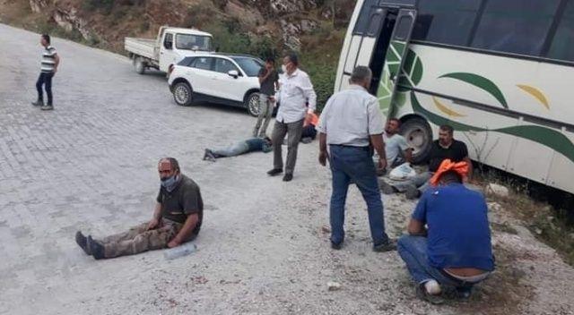 Aydın'da işçi servisi kaza yaptı: 14 yaralı
