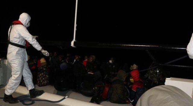 Balıkesir açıklarında Yunanlılar tarafından geri itilen 39 düzensiz göçmen kurtarıldı