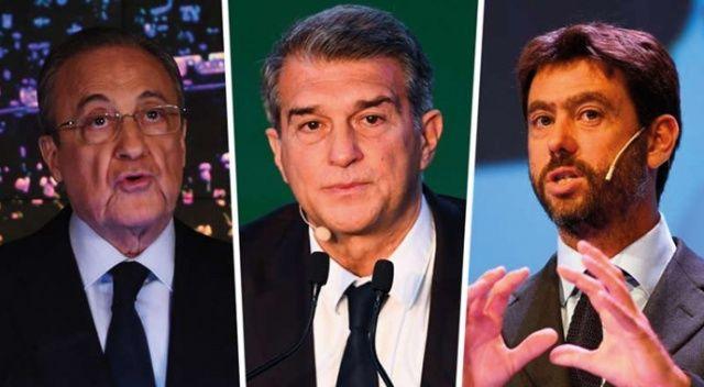 """Barcelona, Juventus ve Real Madrid'den ortak """"Avrupa Süper Ligi"""" açıklaması"""