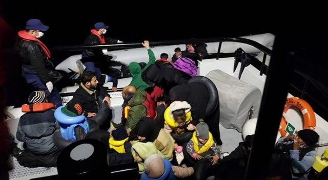 Çanakkale'de 80, İzmir'de 71 göçmen kurtarıldı