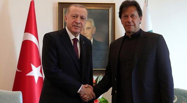 Cumhurbaşkanı Erdoğan, İmran Han ile görüştü