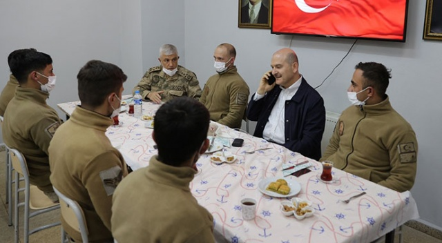 Erdoğan'dan Hakkari Yüksekova Düztepe Üs Bölgesi'ndeki askerlere bayram tebriği