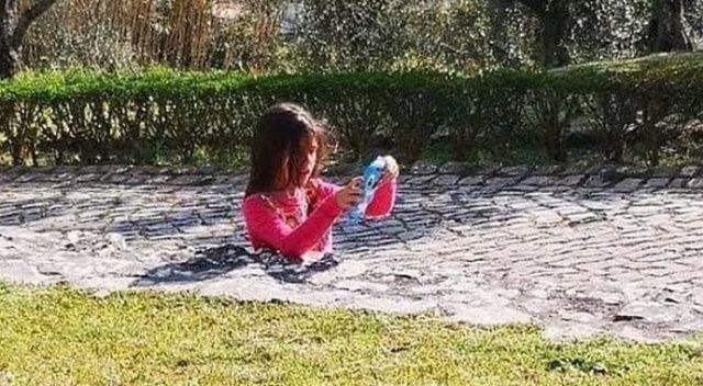 Fotoğrafı gören şoke oldu: Çocuğu yere gömülmüş zannettiler