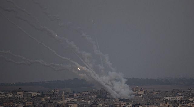 İsrail sivillere saldırdı! Gazze Şeridi'nden Kudüs'e 7 roket atıldı