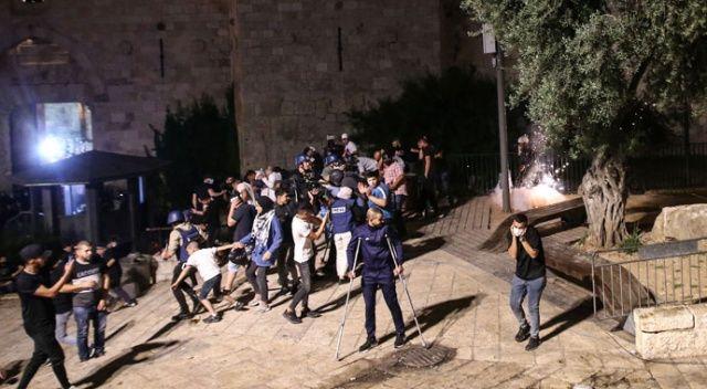 İşgalci İsrail güçleri yine Filistinlilere saldırdı