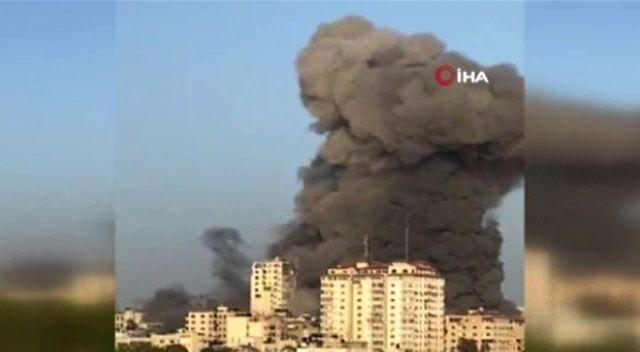 İsrail yine saldırdı! El-Şuruk Kulesi'ni vurarak yıktı