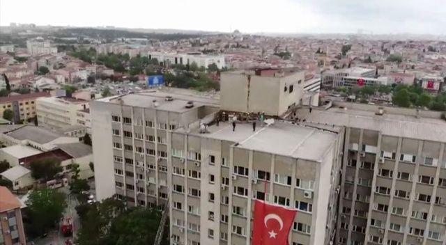 İstanbul Üniversitesi Tıp Fakültesi'nde yangın!
