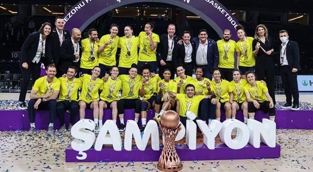 Kadınlar Basketbol Süper Ligi'nde şampiyon Fenerbahçe