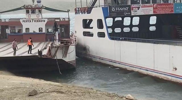 Keban Barajı Gölü'nde faciadan dönüldü: İki feribot çarpıştı