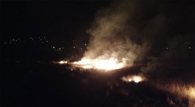 Koruma altındaki Ekşisu Sazlık Alanı'nda yangın çıktı