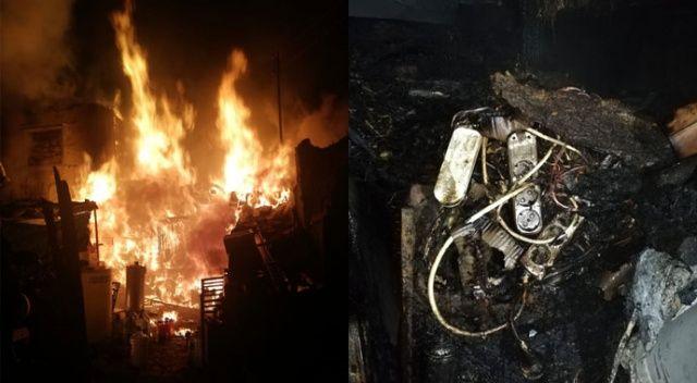 Kümes yangınında binden fazla tavuk ve civciv telef oldu
