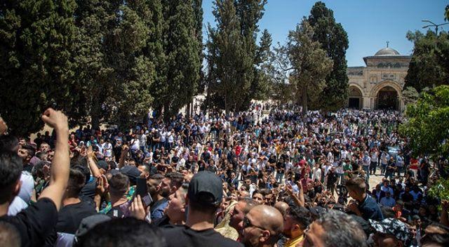 Mescid-i Aksa'da 'Erdoğan' sloganları yükseldi