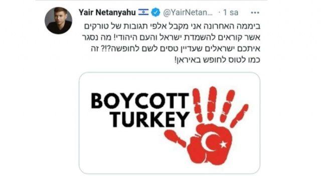 Netanyahu'nun oğlundan küstah çağrı