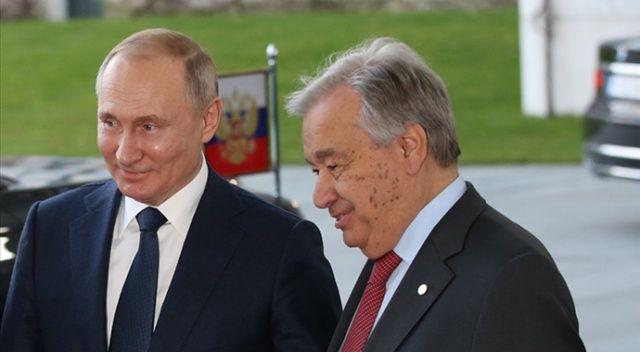 Putin ve BM Genel Sekreteri Guterres ile Filistin'i görüştü