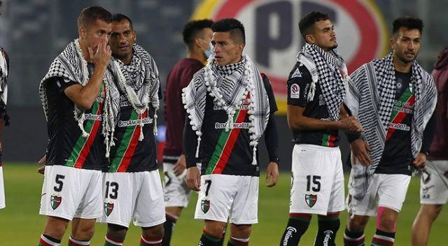 Şilili futbolculardan Filistin'e puşili destek