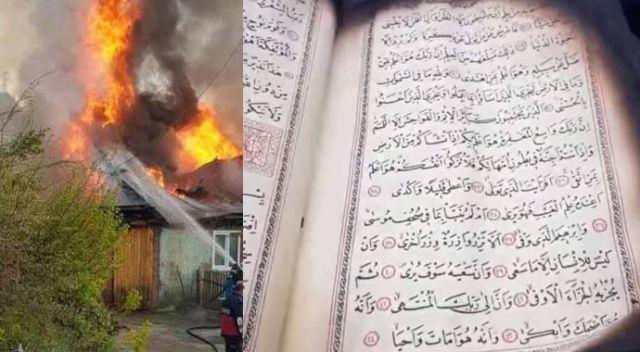Sinop'ta yanan evdeki Kur'an-ı Kerim'in yanmadığı görüldü